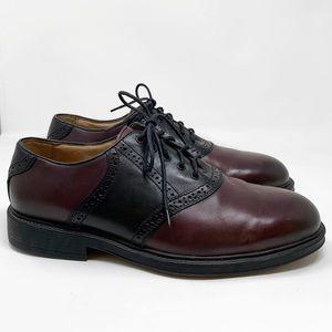 Florsheim Maroon Black Oxford Derby Shoe EEE